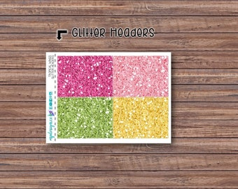 Tropical Wings Glitter Header Stickers | ECLP | Happy Planner | Recollections Planner