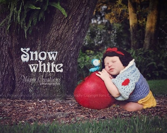 Snow White Wig Hat for Newborn