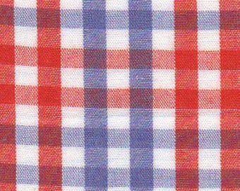 "Orange and Purple Check Fabric from Fabric Finders, Gingham Fabric, Plaid Fabric, Fabric Finders Fabrics, Check Fabric, Cotton 60"" width"