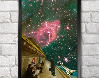 Space Station print + 3 for 2 offer! size A3+  33 x 48 cm;  13 x 19 in, Space Collages