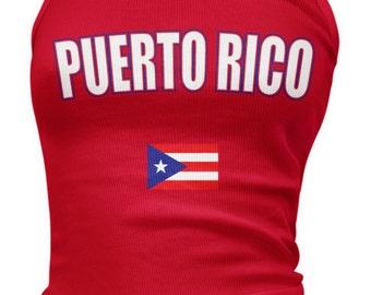 Puerto Rican Ladies Juniors Tank Top, PR Flag, Puerto Rico Pride, Ladies Juniors Puerto Rico Soccer Tank Tops AMD_PUE_08