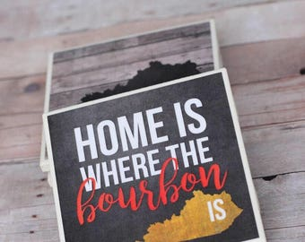 Bourbon Gifts / Bourbon / Coasters / Bourbon Barrel / Kentucky Bourbon / Bourbon Lover / Bourbon Art / Kentucky Gifts / Kentucky Coasters