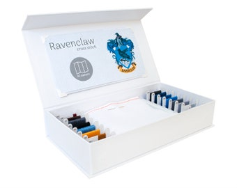Ravenclaw Cross Stitch Kit - Stitchering Box - Organized Materials of Premium Quality - Perfect for Beginners and Experienced Craftiers