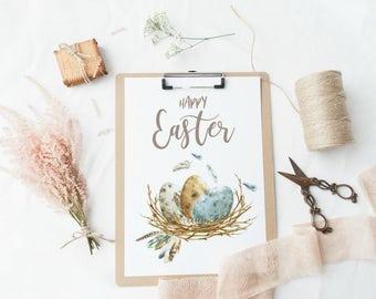 Easter Decor, Easter Print, Easter Art, Easter Decorations, Happy Easter, Easter Wall Art, Spring Wall Art, Spring Decor, Easter Home Decor