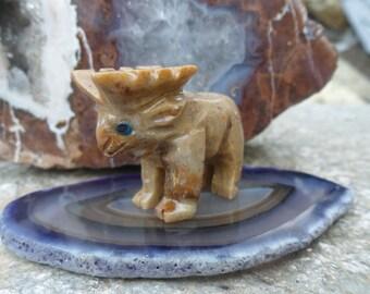 Small Moose Soapstone Carving, Figurine, Spirit Animal