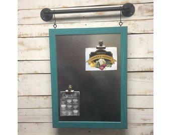 Magnetic Board-Menu Board-Framed Magnetic Board-Metal Board-Bulletin Board-Magnetic Memo Board-Office Decor-Home Decor-Magnet-Message Center