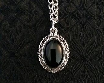 Darkness Necklace, Black onyx Gothic necklace