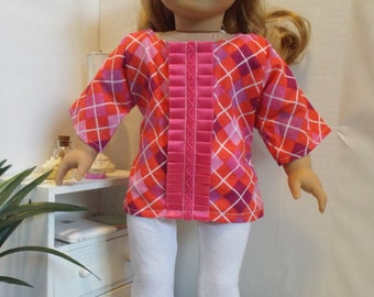 Plaid to be Here outfit w/leggings Fits AmericanGirl type dolls