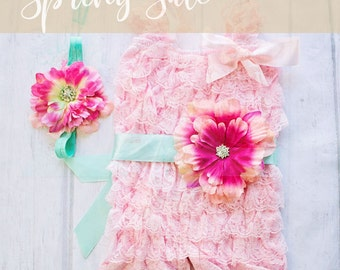 First Easter Outfit, Boho Lace Romper, Lace Romper for Girls, Pink Easter Outfit, Pink Lace Romper, 1st Easter Outfit, Lace Romper