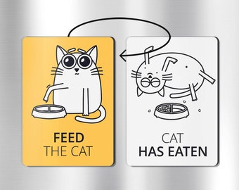 Cat magnets - FEED THE CAT - funny magnets, cat, funny fridge magnets, cat lover gift, chore magnet, pet lover gifts, cat gifts