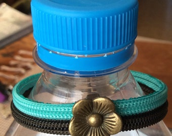 Zipper floral bracelet