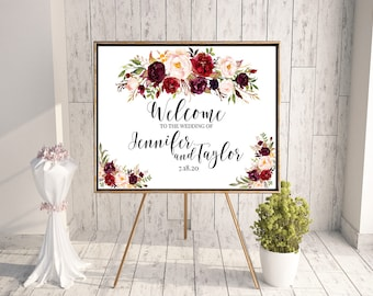 Large Wedding Sign, Large Welcome Sign, Welcome to our, Printable welcome, ceremony sign, marriage decor, marriage sign, welcome sign A100