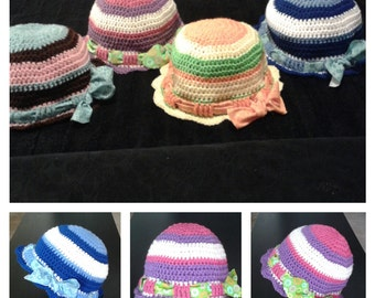 Pattern Only - FUNKY HAT with bow