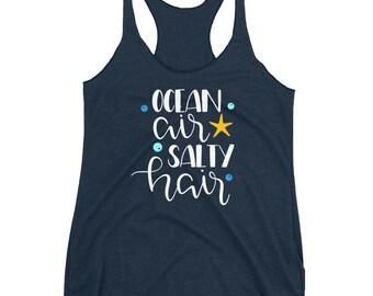 Ocean Air Salty Hair Tank/ Salty Hair Tank/ Mermaid Hair Tank/ Mermaid Top/ Ocean Tank/ Summer Top/ Beach Tank Top/ Mermaid Gift/ Ocean Gift