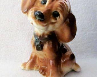 Vintage Royal Copley Puppy Dog Figurine