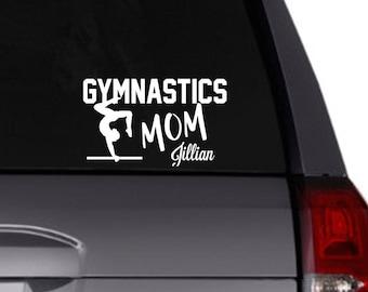 Gymnastics Mom vinyl decal/Personalized decal/Car decal/vinyl decal/gymnast/sports