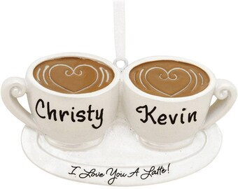 Personalized I Love You A Latte Ornament