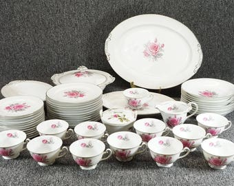 Fine China Japan Pearl Pattern Set Of China 52 Pieces C. 1960'S
