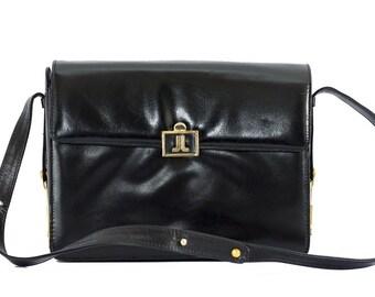 Vintage Lanvin black leather bag