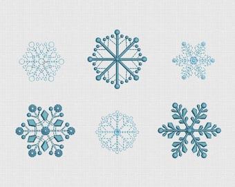 Stickerei Design Schneeflocken für Instant Download Reifen 4 x 4 in