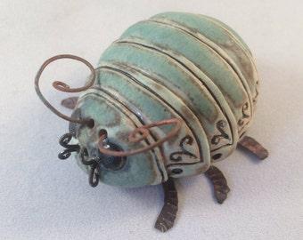 Green Ceramic Beetle