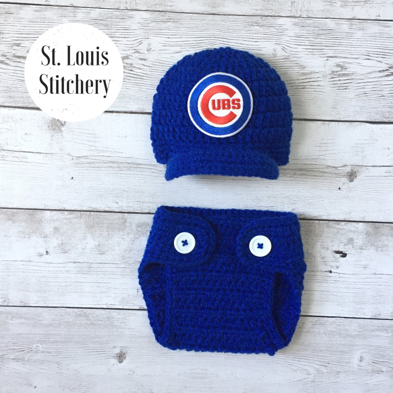 Baby Boy Chicago Cubs Inspired Baseball Hat Newborn