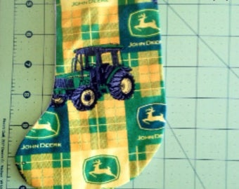 Tractor Christmas Stocking Ornament