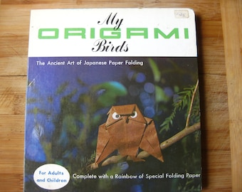 Origami Instructional Book, Birds, 1964 , Paper Included