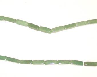 Destash Green Aventurine Tube Beads