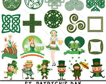 St Patricks Clipart, Irish Clipart, St Patricks Clip Art, Irish Clip Art, Leprechaun PNG, PNG Leprechaun, Saint Patricks Day