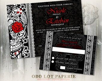 Sugar Skull Wedding Invitation Calaveras Wedding Halloween Wedding Day of the Dead Dia De Los Muertos DIY printable Wedding Invite