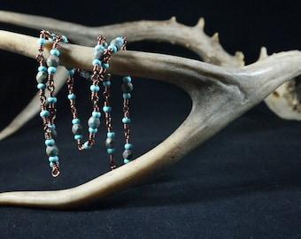 Aqua and Copper Necklace