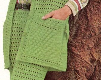 1960s Eyelet Pants Suit Crochet Pattern Womens Two Piece Pants Suit Crochet Pattern  PDF Instant Download
