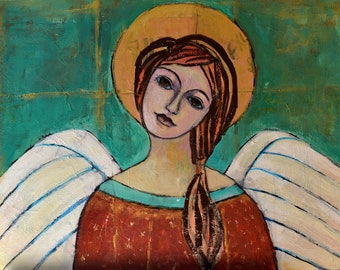 Angel for Mother Angel for Mom Angel Painting Angel Wall Decor Angel wall Art Angel Wall Hanging Angel Faces Angel Original Painting Angels