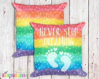 Infertility Gift For Women, Miscarriage Gift, Trying To Conceive, PCOS, IVF, Fertility, Never Stop Dreaming Keepsake Pillow, Sympathy Gifts