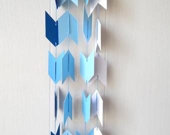 Ombre Arrow Garland / Ombre Arrow Bunting in Metallic Blue 10 ft