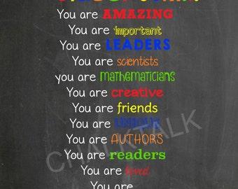 Classroom Chalkboard - Classroom Sign - Teacher Chalkboard - Teacher Sign - Classroom Decor - Teacher Decor - Printable - Photo Decor