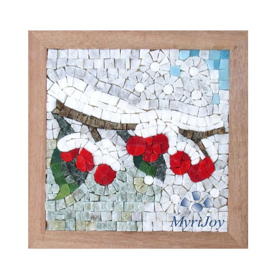 Mosaic craft kit for adults winter mosaic art ideas do it mosaic craft kit for adults winter mosaic art ideas do it yourself project diy kit italian marble murano glass mosaic tiles from myrijoy on etsy solutioingenieria Choice Image