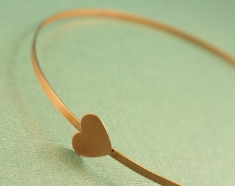 Sweet copper heart love headband