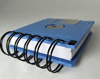 Floppy Disk Notebook JUMBO Light Blue Computer Disk Recycled Geek Gear Blank Mini 125 sheets