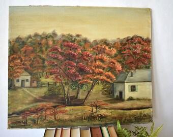 Oil on Panel Artist Dunlap 1952