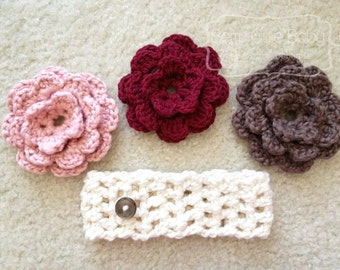 Headband with Button-on Flower, Toddler