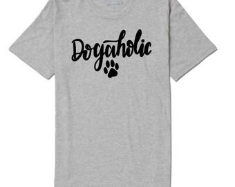 Dogaholic Dog Lover Unisex T Shirt Many Sizes Colors Custom Gift Jenuine Crafts