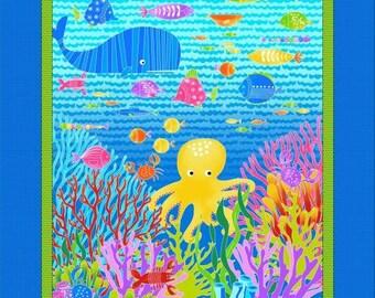 Studio E 'Alpha Fish' Fabric by the Yard; Alpha Fish By Art by Art Loft 4016P-76