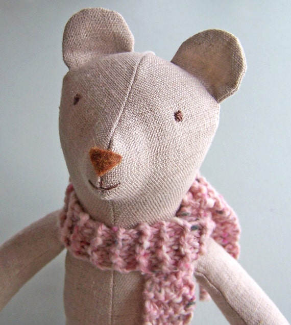 Stuffed Animal PDF sewing pattern, teddy bear, stuffed toy, linen ...