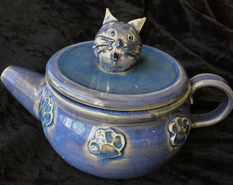 Pottery Cat Teapot