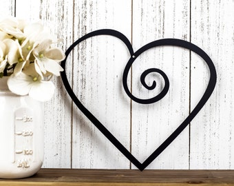 Heart Metal Wall Art | Valentines | Metal Sign | Metal Wall Decor | Wall Hanging | Love | Wall Decor | Wall Art | Sign | Heart | Steel Sign