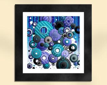 Circles 4 Abstract Art Print