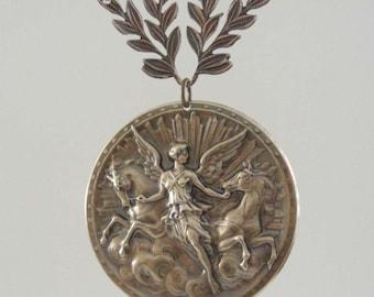 Vintage Brass Stamping - Vintage Pendant - Angel Pendant - Statement Necklace - DIY Necklace - Handmade Pendant - Myshangrila