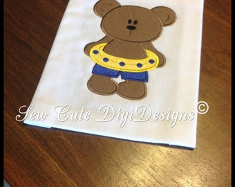 Beach Bear Applique